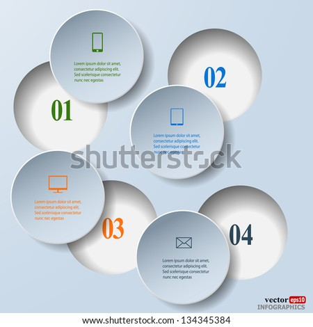 Abstract paper infografics. Internal and external data concept. Vector eps10 illustration - stock vector