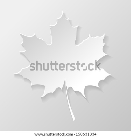 Abstract paper maple leaf - stock vector