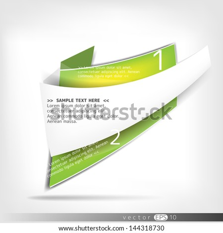 Abstract paper polygonal origami speech bubbles - stock vector