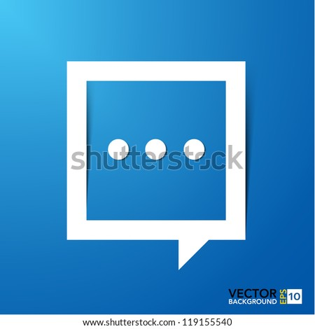 Abstract paper speech bubble background.EPS10 - stock vector