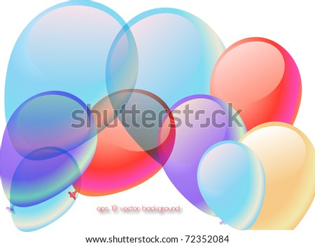 abstract party balloons vector illustration - stock vector