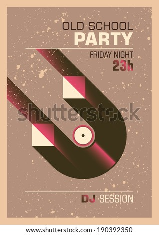 Abstract party poster design. Vector illustration. - stock vector