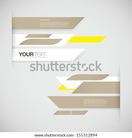 Abstract pastel color business presentation design with your text Eps 10 vector illustration - stock vector