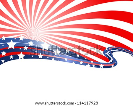 abstract patriotic background - stock vector