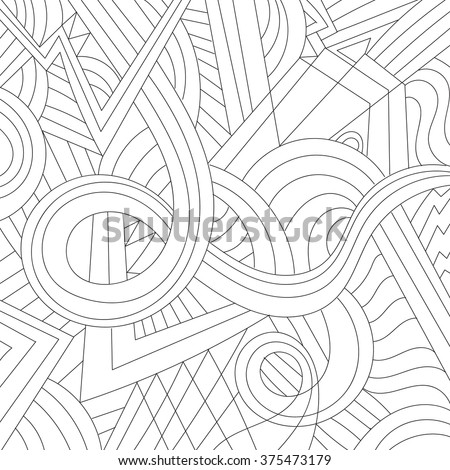 Abstract Pattern Coloring Adult Antistress Color Book Stock Photo ...