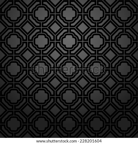 Abstract pattern in Arabian style. Seamless vector  background. Black geometric texture. - stock vector