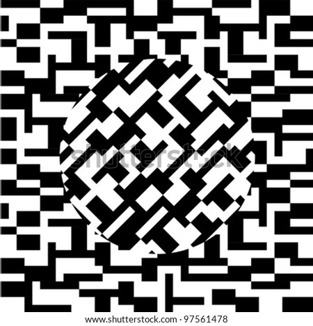 Abstract pattern in black and white - stock vector