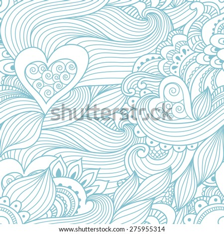 Abstract pattern love. Seamless pattern can be used for wallpaper, textures