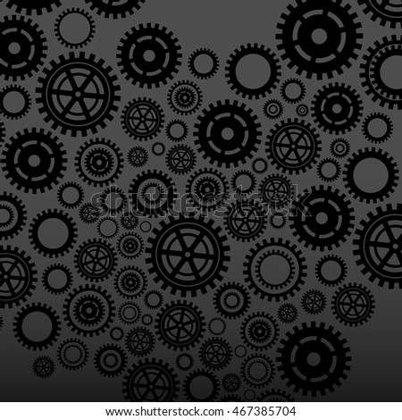 Abstract pattern of black gears