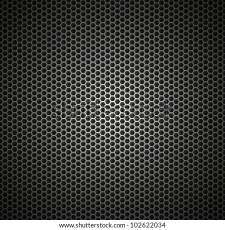 abstract pattern of metal in the form of honeycomb - stock vector