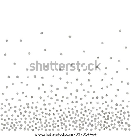 Abstract pattern of random silver dots on white background. Elegant pattern for background, textile, paper packaging and other design. Vector illustration. - stock vector