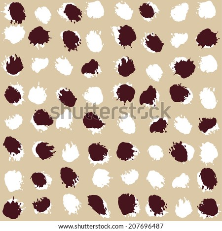 Abstract pattern. Paint stains. Vector