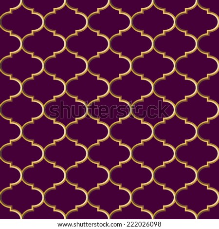 Abstract pattern.Seamless geometric wallpaper background.Vector illustration. Golden grid texture. Vector illustration. - stock vector