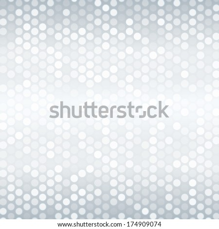 Abstract pattern with mixed small spots in platinum color.  - stock vector