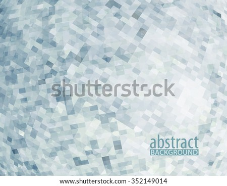 Abstract pattern with transparent chaotic pixels on white background. Vector graphic backdrop - stock vector