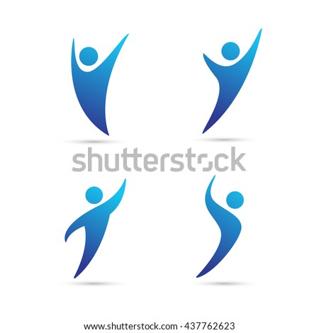 Abstract people logo, sign, icon. Vector illustration
