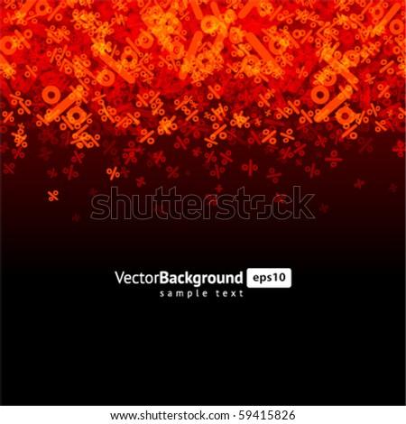 Abstract percent vector background - stock vector