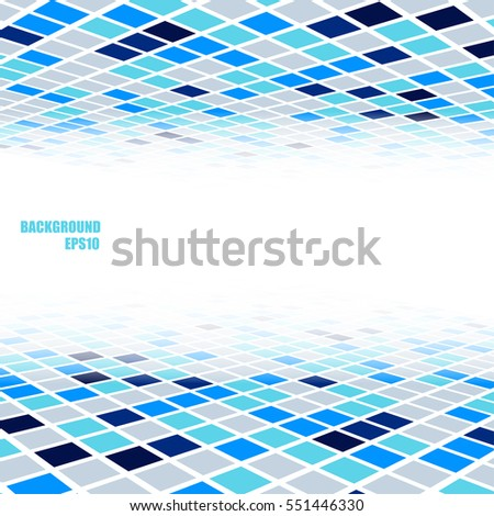 Abstract perspective background with blue and gray poly texture