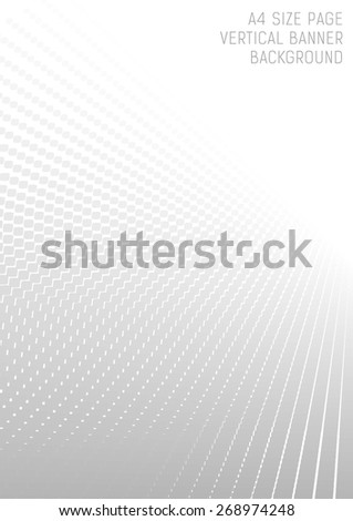 Abstract perspective background with white & gray tones (A4 size) - stock vector