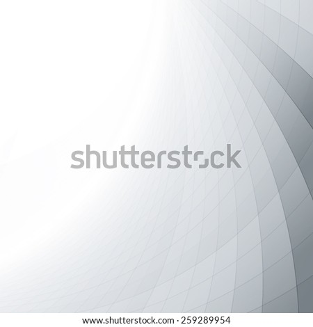 Abstract perspective background with white & grey tones - stock vector
