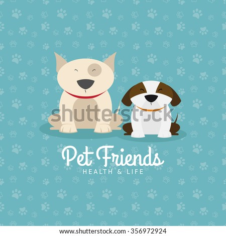 Abstract pet shop background with some special objects - stock vector