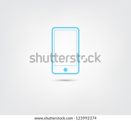 Abstract phone icon / button for websites (UI) or applications (app) for smartphones or tablets. Pictogram - stock vector