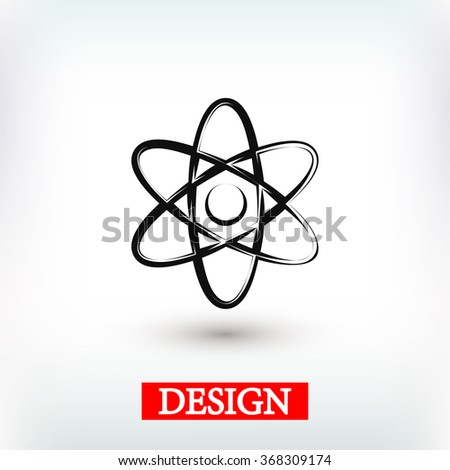 abstract physics science model icon, vector illustration. Flat d - stock vector
