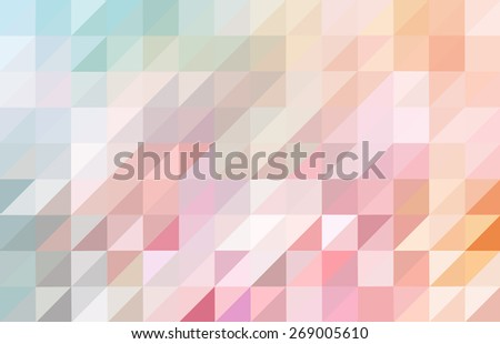 Abstract pink and blue colored triangular pattern background - stock vector