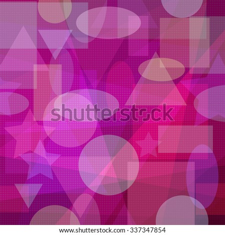 Abstract Pink and Red Background with Colorful Geometrical Figures. Eps10, Contains Transparencies. Vector - stock vector
