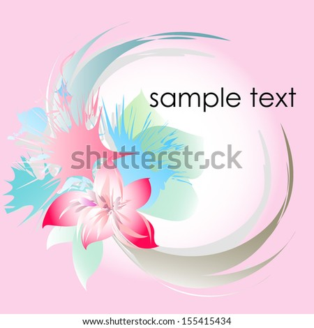 Abstract pink background . Floral flower  - stock vector