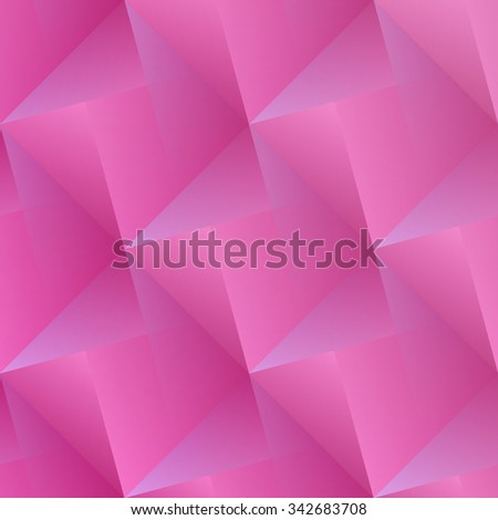 abstract, pink background with geometric 3d shapes surface. vector modern, decorative wallpaper