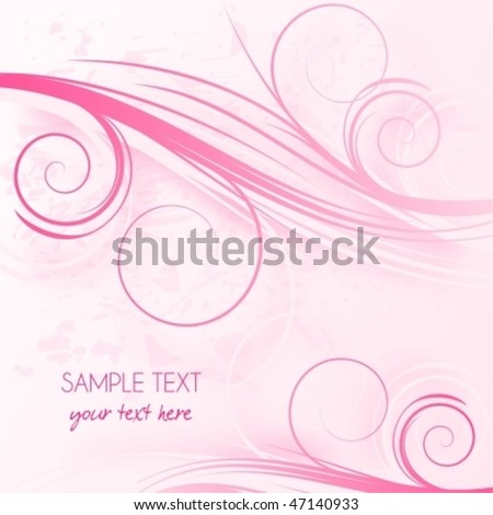 Abstract pink background with place for text,  raster version also available in my portfolio - stock vector