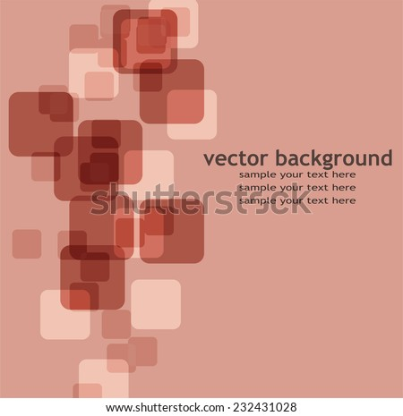 Abstract pink background with squares - stock vector