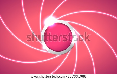 Abstract Pink Circle Background. Metal Button Sphere. Vector Illustration EPS 10 - stock vector