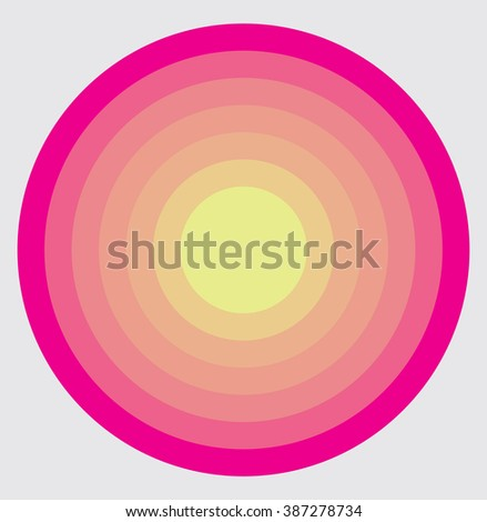 Abstract Pink Color Graphic With Circular Circle Pattern