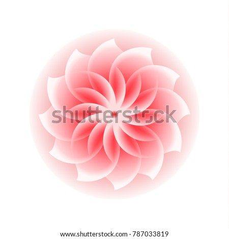 Abstract pink flower icon stock vector 787033819 shutterstock abstract pink flower icon mightylinksfo Choice Image