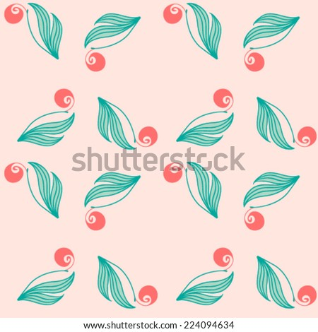 Abstract pink flower pattern.