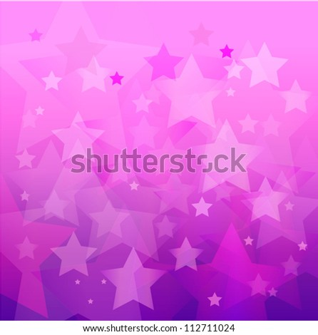 abstract pink star bokeh background - stock vector
