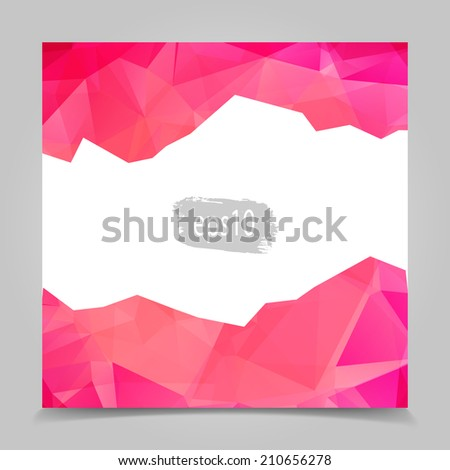 Abstract Pink Triangular Polygonal geometric background - stock vector