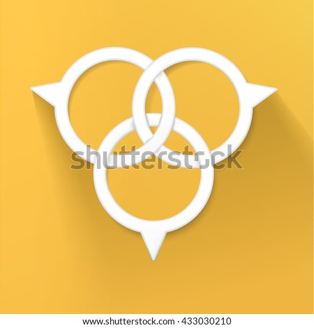 Abstract Pins Ring Chain for Your Scalable Content - stock vector