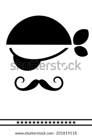 Dog Clip Art Eye Patch Black And White