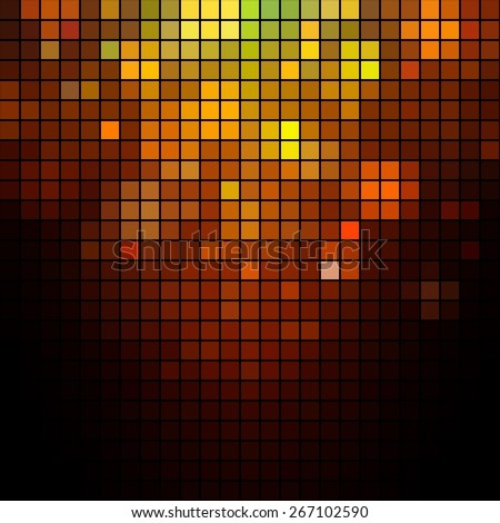 Abstract Pixel Background. Shiny Vector Illustration for Your Artwork, Party Flyers, Posters and Banners. - stock vector