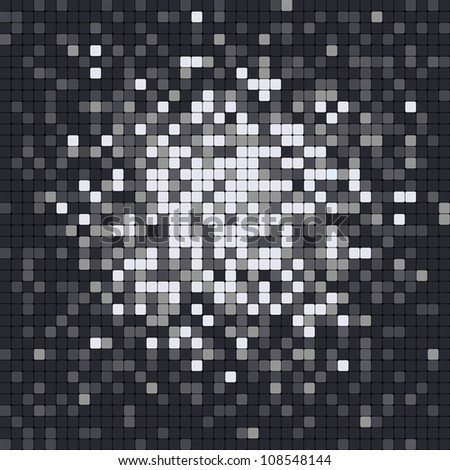 Abstract pixel mosaic - stock vector