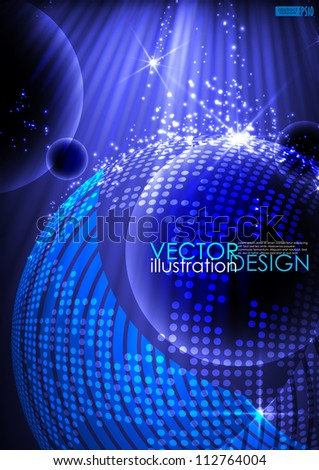 Abstract planet background. Vector illustration. Eps 10. - stock vector