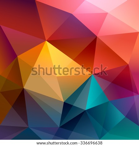 Abstract polygon background - stock vector