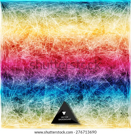 Abstract polygonal background/ triangles background - stock vector