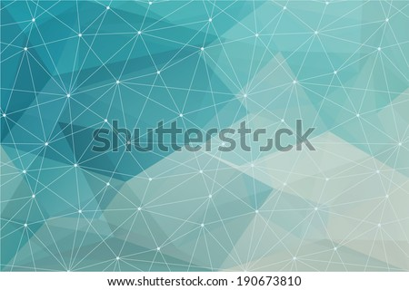 abstract polygonal background, vector - stock vector