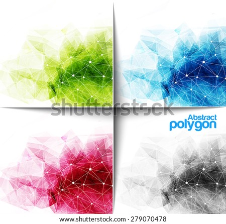 Abstract Polygonal Background, Vector illustration - stock vector