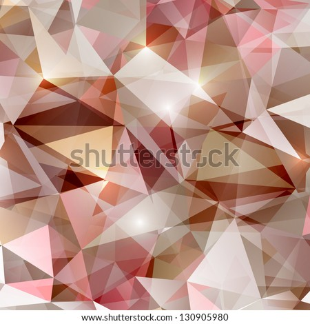 abstract polygonal bright vector background - stock vector