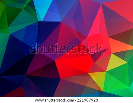 Abstract polygonal colorful vector background - stock vector